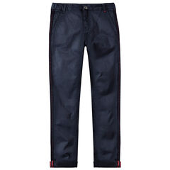 Junior - Pantalon 7/8ème à bandes tressées et poches italiennes