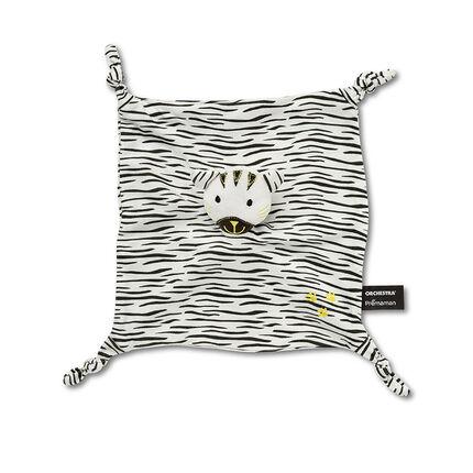 Doudou plat tête de tigre