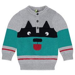 Pull en tricot avec motif animal en jacquard