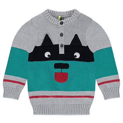 Pull en tricot avec motif animal en jacquard - Orchestra FR