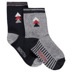 Lot de 2 paires de chaussettes assorties avec motif jaquard