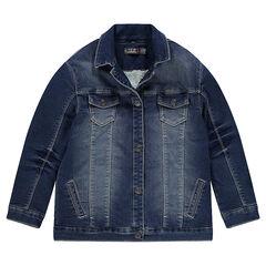 Junior - Veste en molleton effet jeans doublée sherpa