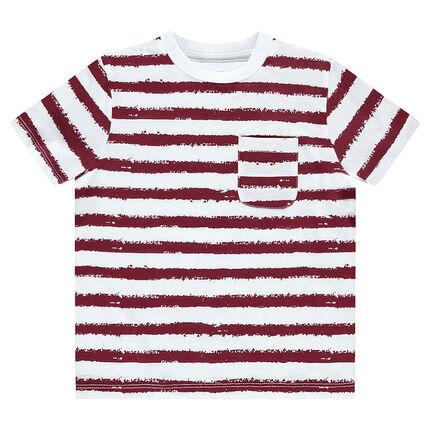Tee-shirt manches courtes marinière