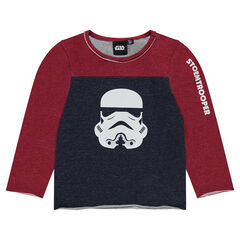 Tee-shirt manches longues bicolore Star Wars™ print Stormtrooper