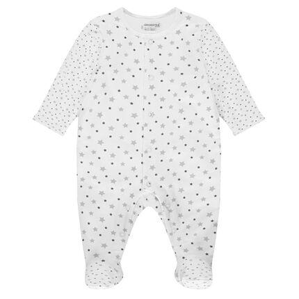 Dors-bien en coton imprimé étoiles du prématuré au 3 mois
