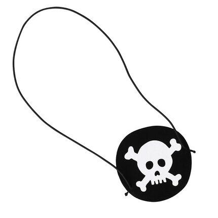 x 10 caches oeil Pirate anniversaire motif tête de mort
