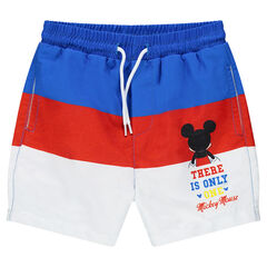 Short de bain tricolore ©Disney print Mickey