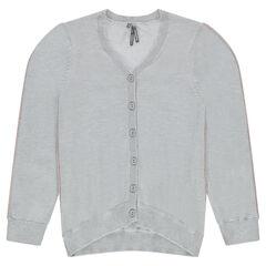 Junior - Gilet en tricot uni