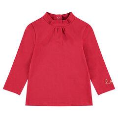Sous-pull en jersey avec inscription brodée