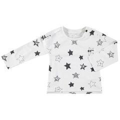 T-shirt manches longues en jersey print étoiles all-over