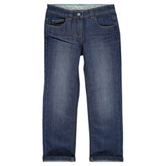 Junior - Jeans coupe droite effet used