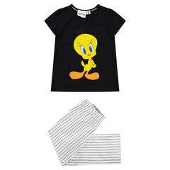 Pyjama uni / rayé avec print Looney Tunes Titi