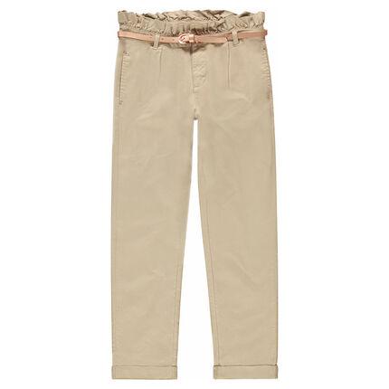 Pantalon en twill avec ceinture irisée amovible