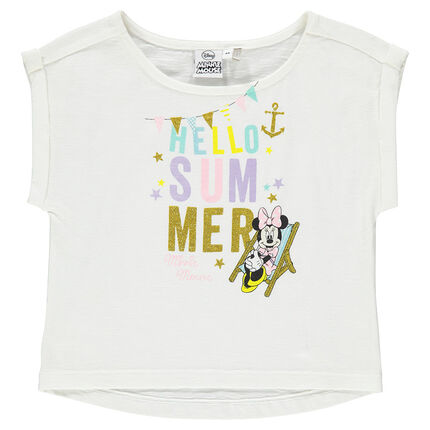 Tee-shirt manches courtes print Disney Minnie