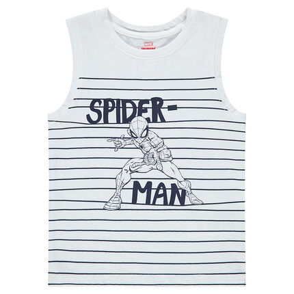 Débardeur en jersey avec rayures et ©Marvel Spiderman printé