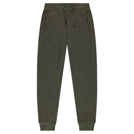 Junior - Pantalon de jogging en molleton fourche basse