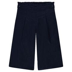 Pantalon large en toile armurée