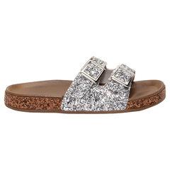 Nu-pieds argentés à paillettes du 28 au 38