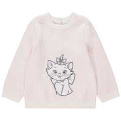 Pull en tricot avec Marie Aristochats brodée Disney