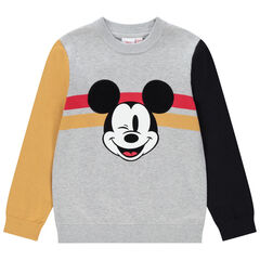 Pull en tricot motif Mickey Disney pour enfant garçon , Orchestra