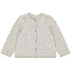 Gilet en tricot chiné