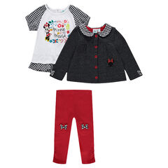 Ensemble tunique, legging et gilet Disney Minnie