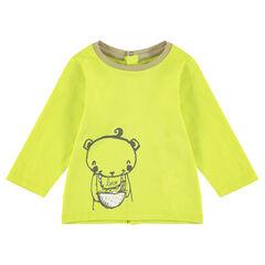 Tee-shirt manches longues en jersey avec ourson printé