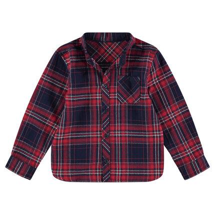 Chemise manches longues en flanelle à larges carreaux