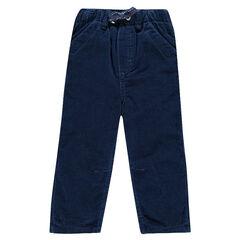 Pantalon en velours avec taille élastisquée