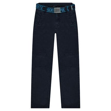 Pantalon en twill avec ceinture printée amovible