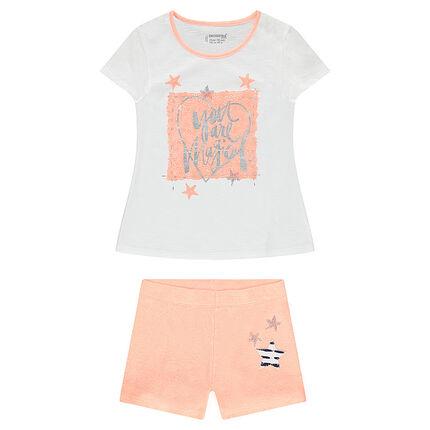 Junior - Pyjama en jersey avec print fantaisie brillant et étoiles