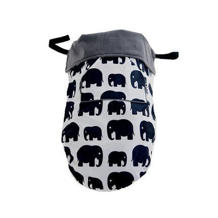 Chancelière universelle Go avec motif éléphants – Gris