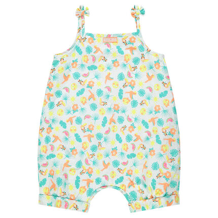 Combishort à motif tropical all-over Smiley