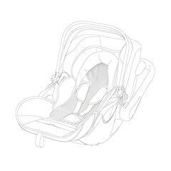 Housse d'été Becool newborn pour siège-auto groupe 0+ - Blanc