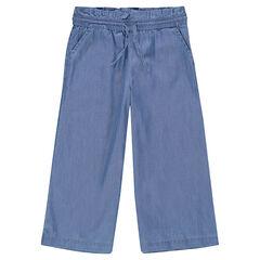 Junior - Pantalon ample mi-mollet en Tencel