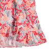 Junior - Robe à épaules ajourées imprimée fleurs all-over