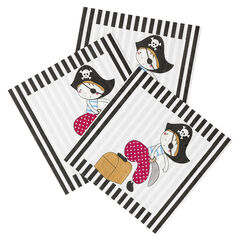 x 20 serviettes de table en papier motif Pirate