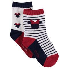 Lot de 2 paires de chaussettes assorties avec motif ©Disney Minnie