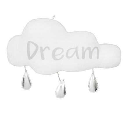 Suspension forme nuage avec gouttes et message
