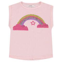 Tee-shirt manches courtes avec motif en sequins magiques