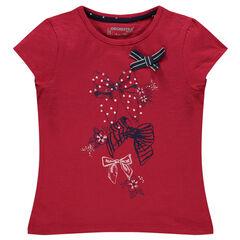 Tee-shirt manches courtes print nœuds