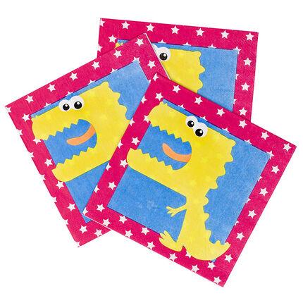 Lot de 20 serviettes anniversaire en papier motif Dragon