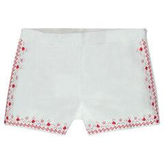 Junior - Short en coton brodé