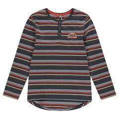 Junior - Tee-shirt manches longues forme liquette