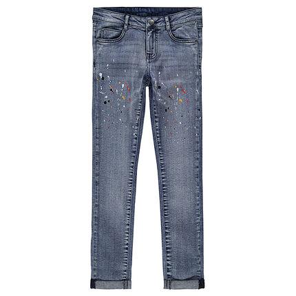 junior jeans slim avec taches de peinture print es orchestra fr. Black Bedroom Furniture Sets. Home Design Ideas