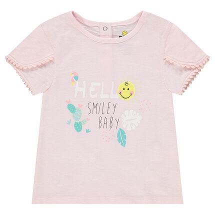 Tee-shirt en coton organique print Smiley