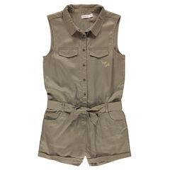 Junior - Combishort en lyocel avec poches