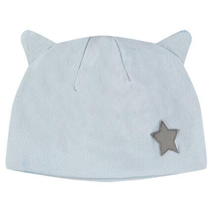 Bonnet en jersey avec petite étoile patchée