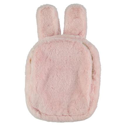 Sac à goûter en fausse fourrure forme lapin