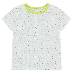 Tee-shirt manches courtes en jersey avec imprimé graphique all-over